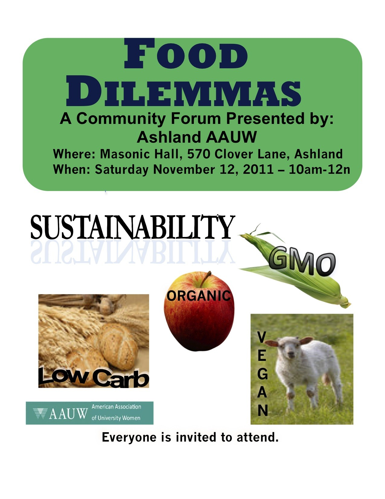 Photo of Food Dilemmas – Ashland AAUW Forum