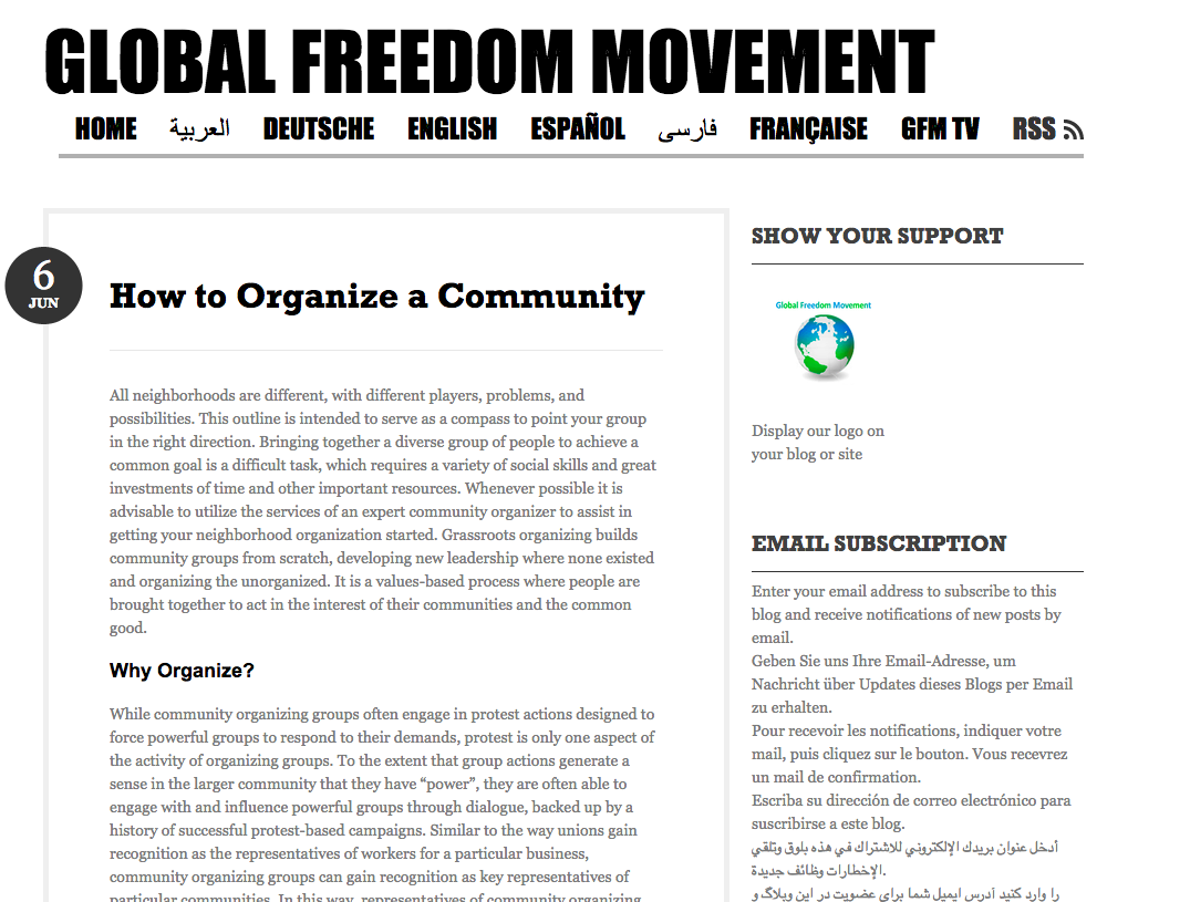Photo of How to Organize a Community